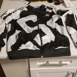 Adidas graphic track jacket